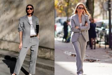 春季裤装盛行经典灰色伴你一路时尚大气有范提高气场