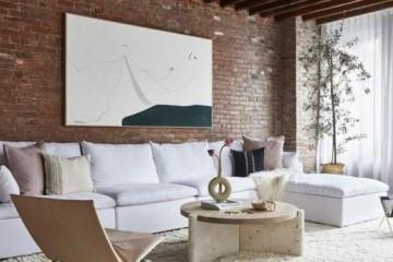 工业风公寓红砖墙大理石原木复古又现代温馨又舒适